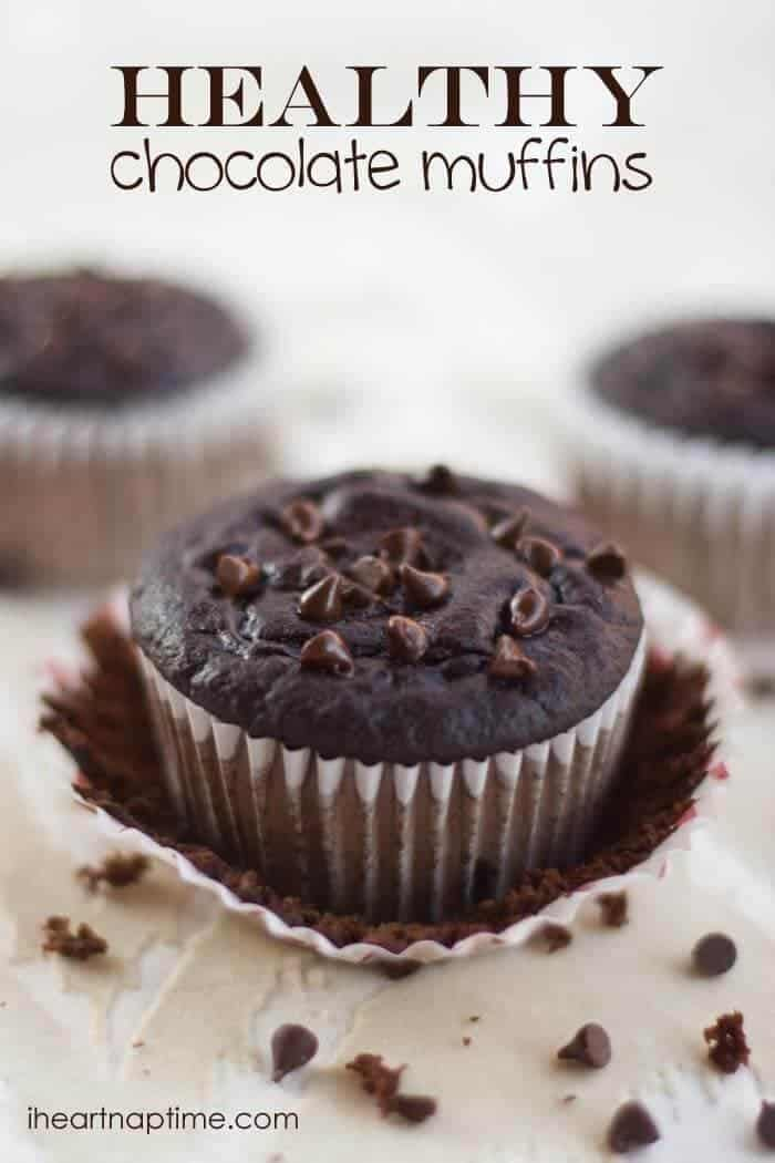 Healthy (and delicious) chocolate #muffins from iheartnaptime.net ...the secret ingredient is greek yogurt .