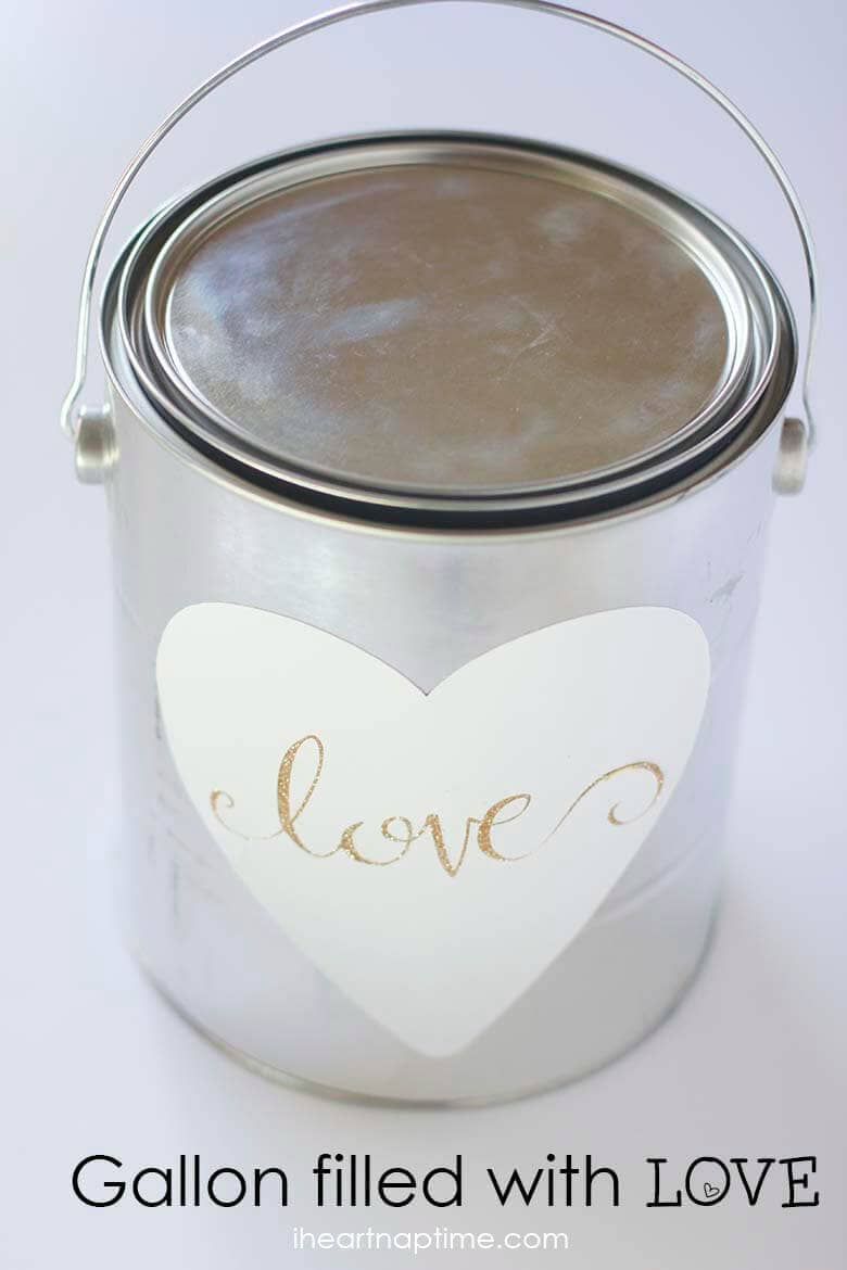 Gallon full of love gift idea on iheartnaptime.com