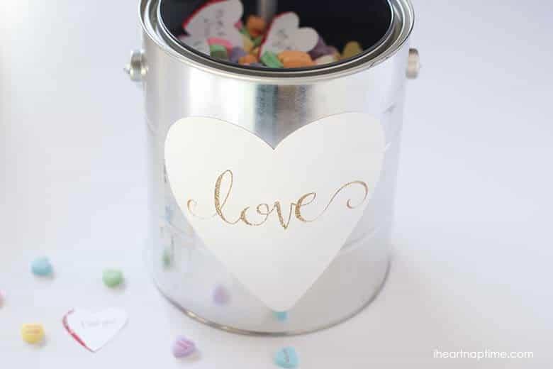 Gallon full of love gift idea on iheartnaptime.com