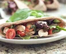 Chicken caprese salad pita on iheartnaptime.com #recipes