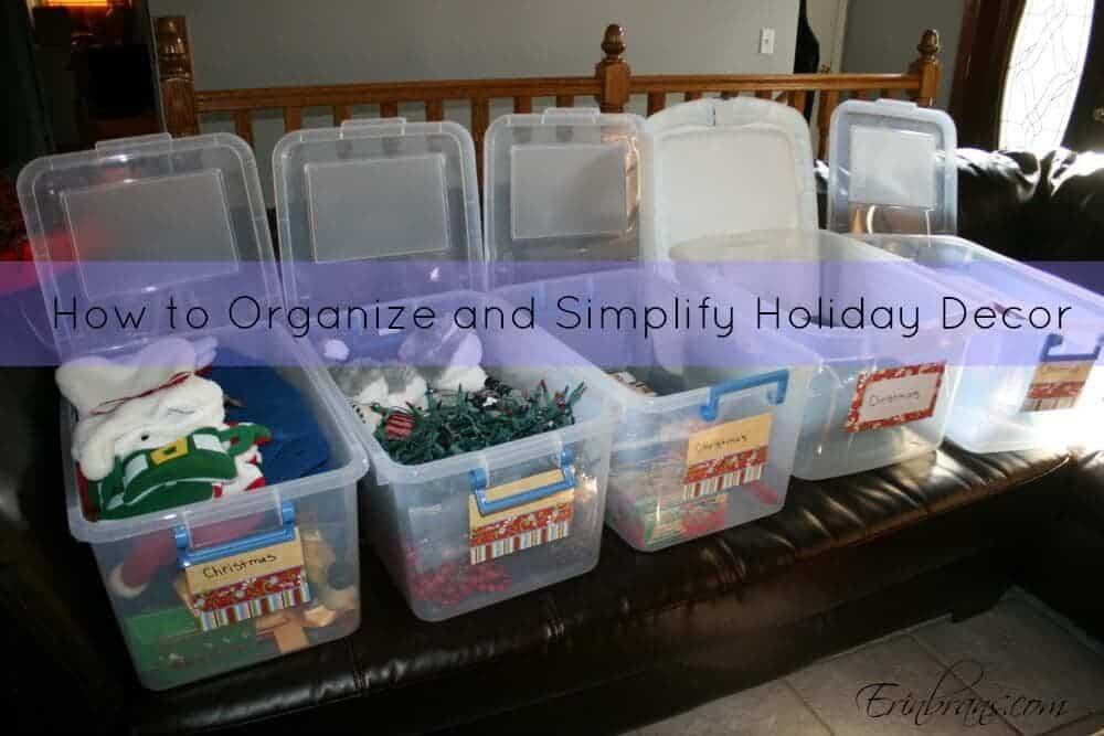 organizing holiday decor