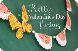 pretty valentines bunting