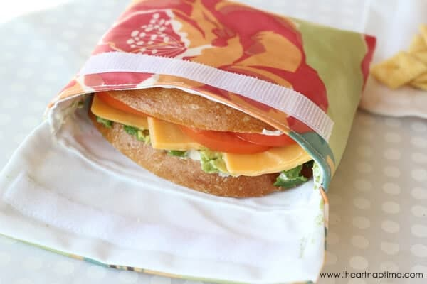 Reusable Lunch Bags Sewing Tutorial I Heart Nap Time