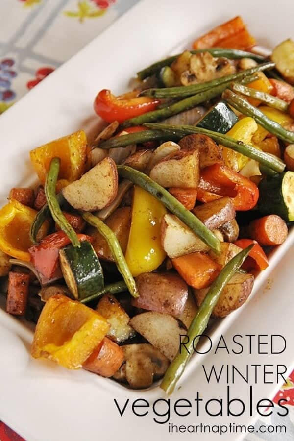 Roasted winter vegetables recipe ...veggies never tasted so good!