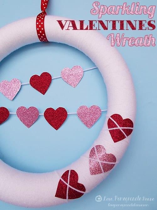sparkling valentines wreath