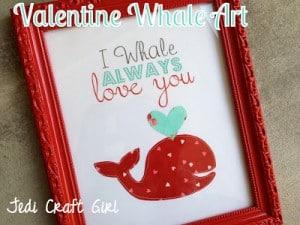 valentine art whale