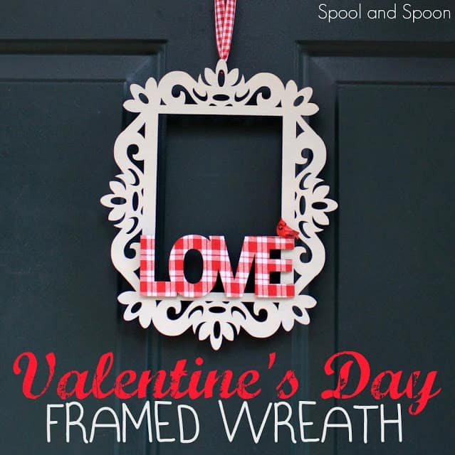 valentine's framed wreath