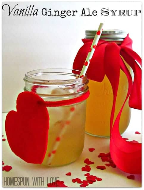 vanilla ginger ale syrup