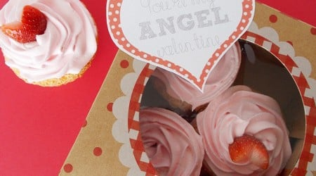 Angel Food Cupcake Valentines