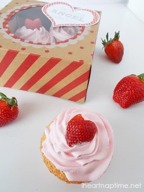 Angel Food Cupcake Valentines