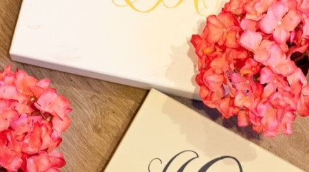 #DIY monogram boxes on iheartnaptime.com