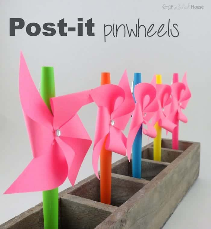 Post-it Pinwheels a