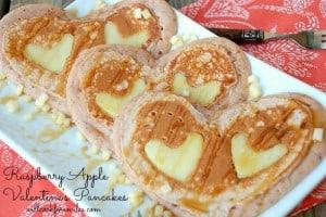 Raspberry Apple Valentine's Pancakes 4 ed