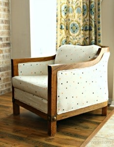 barrel chair makeover