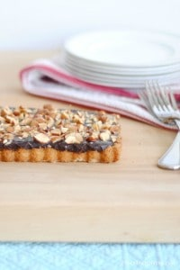 caramel chocolate almond tart 2