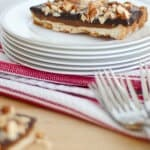 caramel chocolate almond tart 4