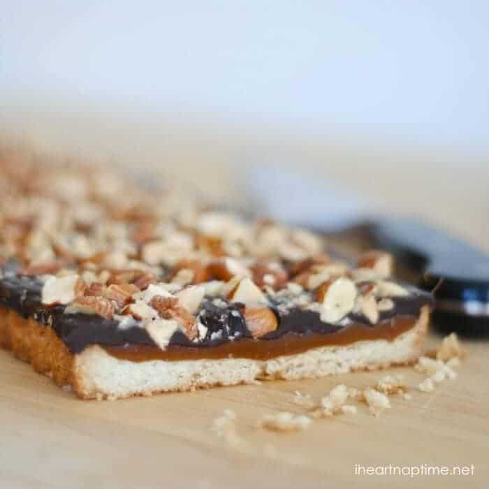 caramel chocolate almond tart 5