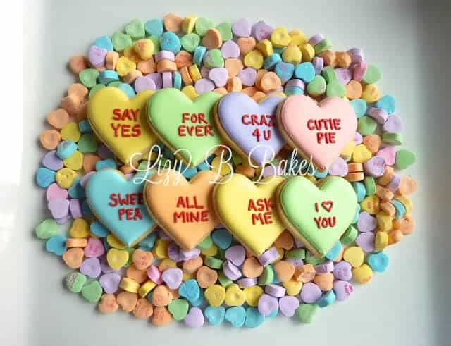 Conversation Heart Cookies from Lizy B Bakes