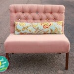 diamond tufted dining bench