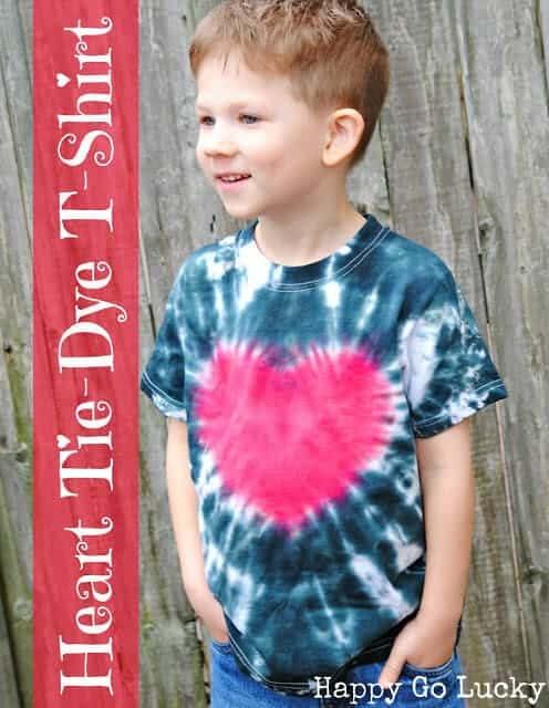 heart tie-dye shirt