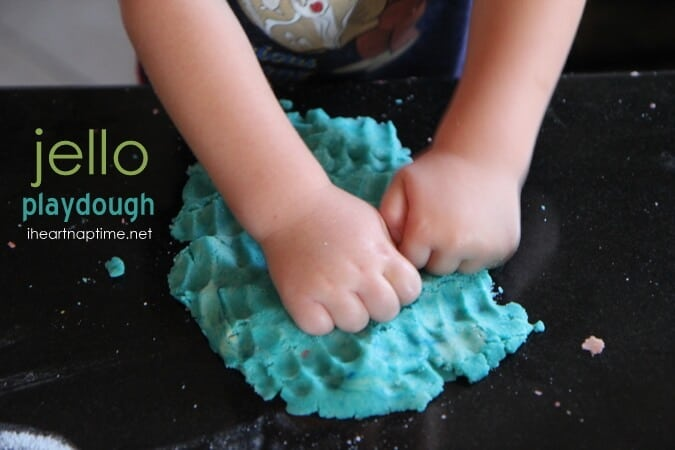 jello playdough for kids
