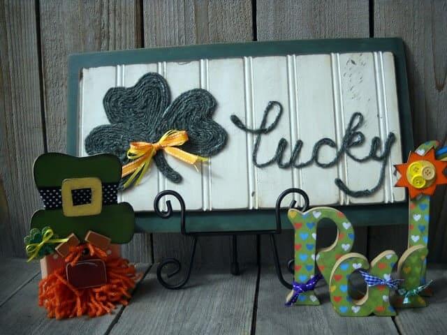 Lucky jute sign