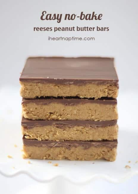 Easy no-bake homemade reeses peanut butter bars!
