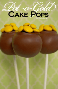 pot of gold cake pops