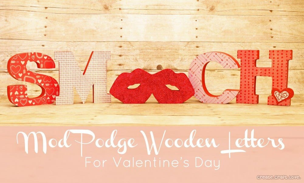 smooch wooden letters