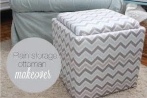 storage ottoman makeover