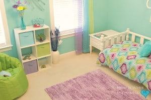 teal peacock bedroom