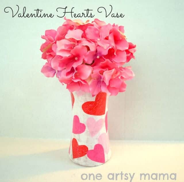 valentines heart vase