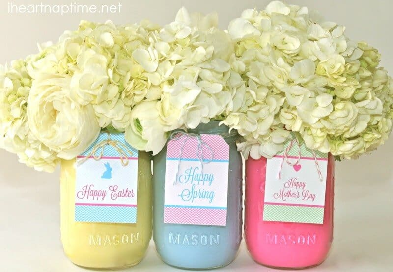 Diy spring mason jars and free tags i heart nap time spring mason jars negle Choice Image