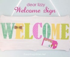 Dear Lizzy Welcome Sign