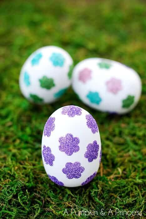 Flower-Glitter-Easter-Eggs
