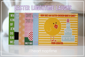 My kids will love these Easter Lunchtime Laughs at I heart naptime! Perfect for their lunches. #easter