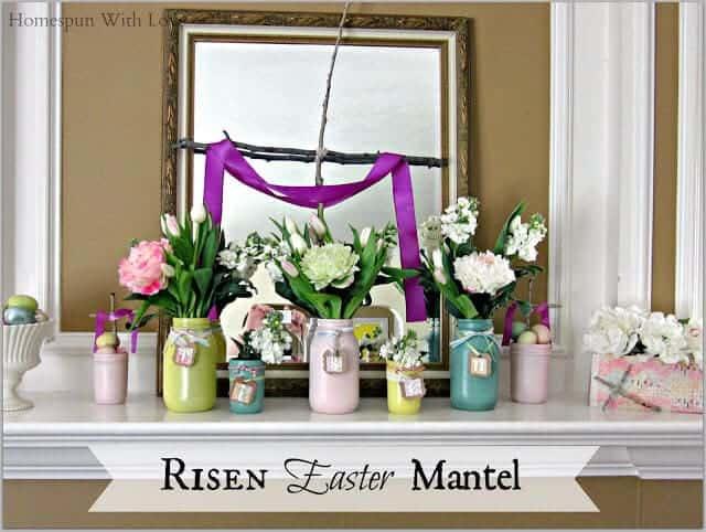 Risen Easter Mantel