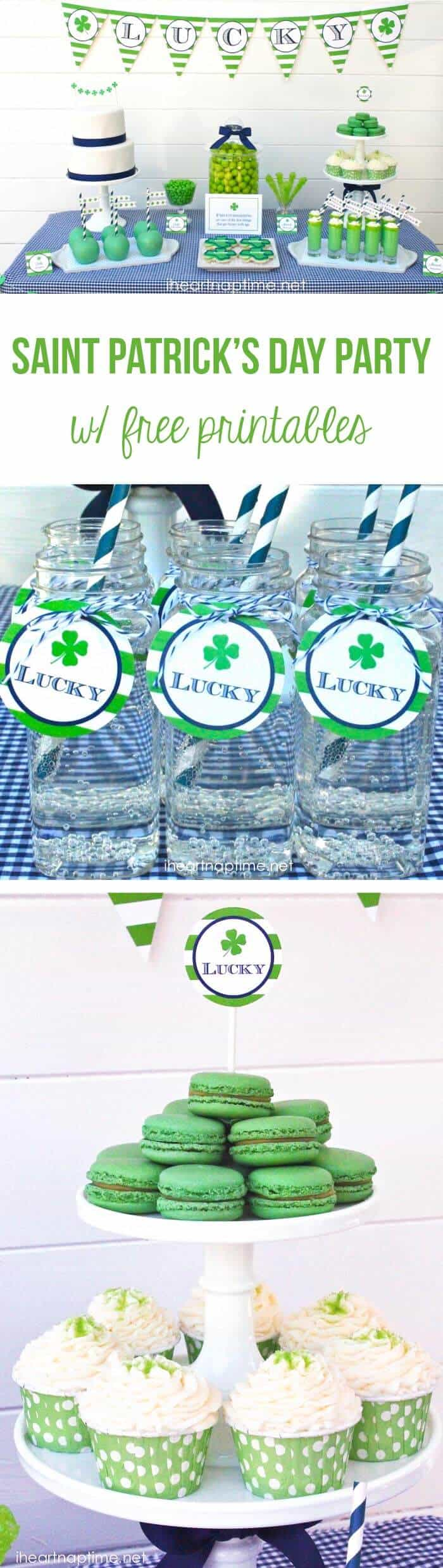 Saint Patrick's Day party ideas with FREE printables!