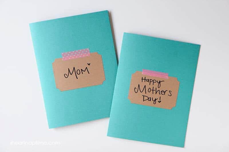 Easy Handmade Mothers Day gift idea