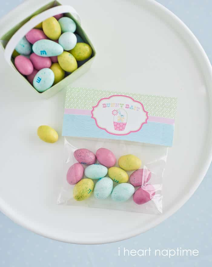 printable Easter treat bag toppers