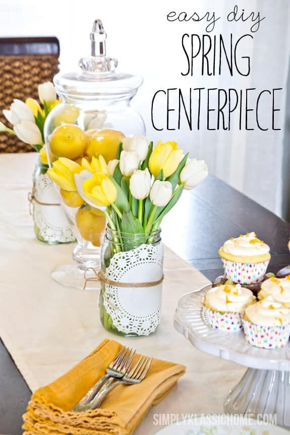 easy everyday spring centerpiece