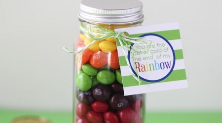 Rainbow with a pot of gold craft w/ free printable!