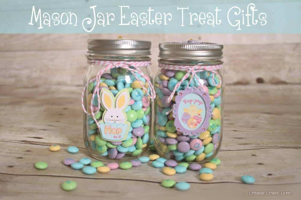 Sweet mason jar easter gift idea crafthubs mason jar chocolate easter bunny gifts crafty morning sundae scoop top 20 spring ideas i heart nap time negle Image collections