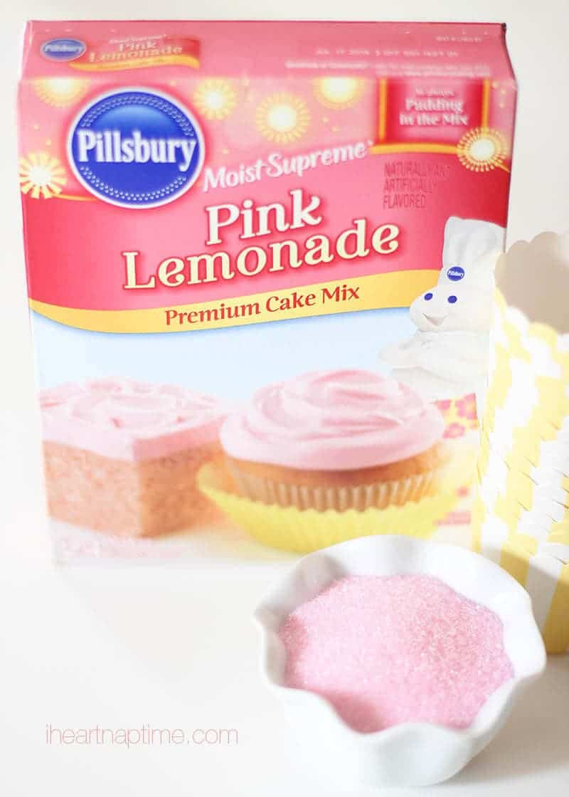 Pink lemonade cupcakes on I Heart Nap Time