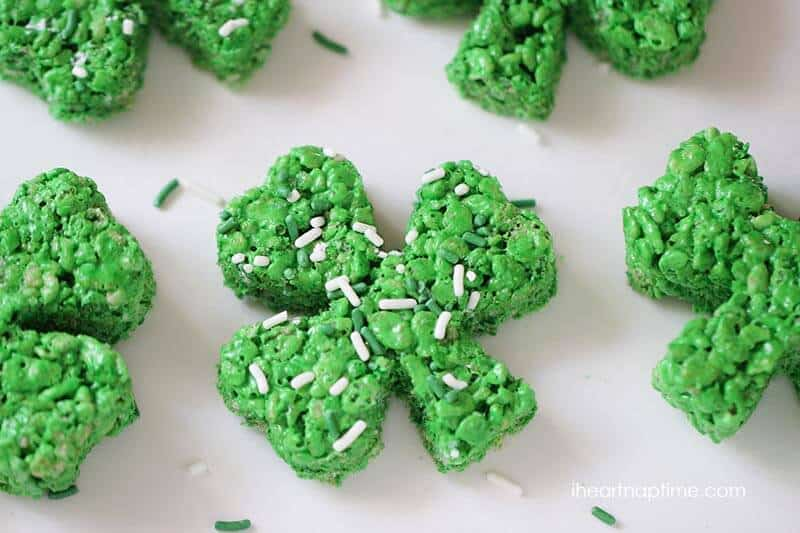 Clover rice krispie treats - I Heart Nap Time