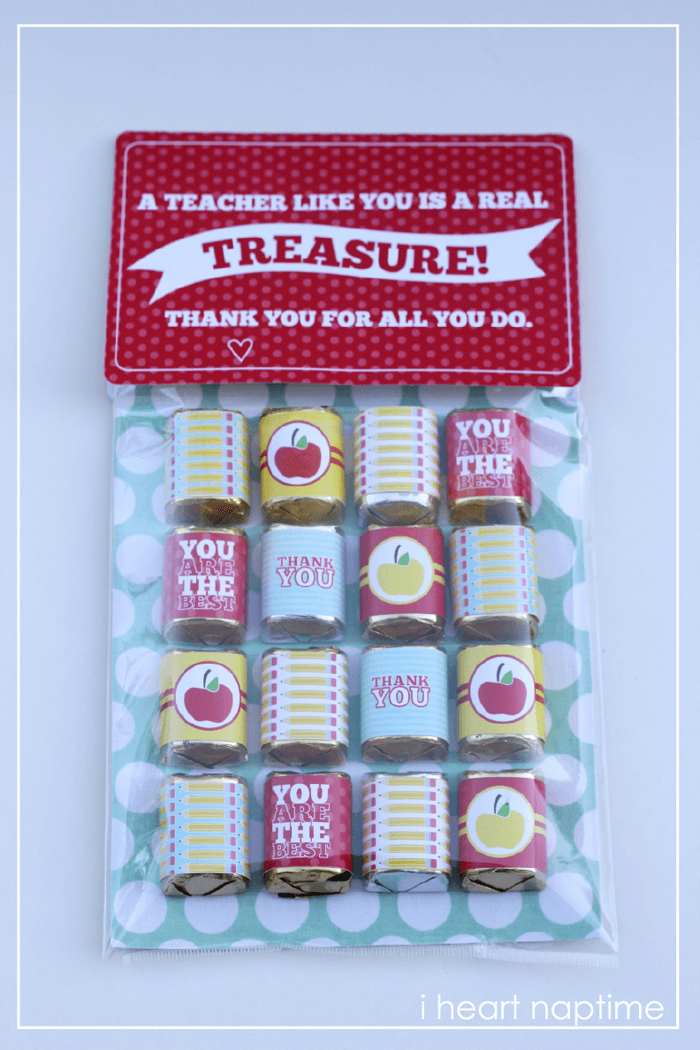Cutest Teacher Appreciation gift ever! The free printables are with it too!
