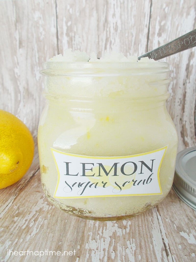 jar of lemon sugar scrub
