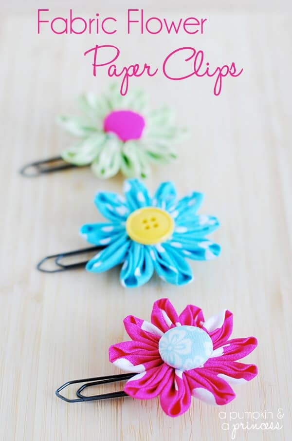 Fabric-Flower-Paper-Clips