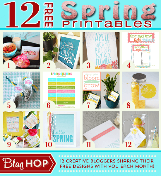 12 FREE Spring Printables
