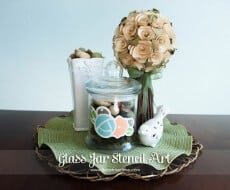 Glass Jar Stencil Art